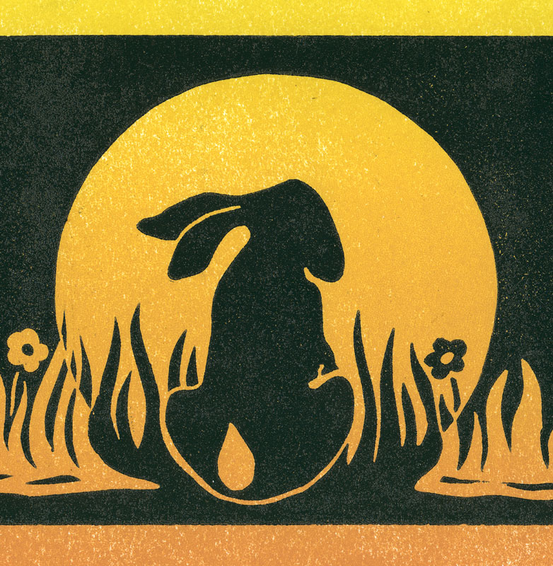 Silhouette of a hare