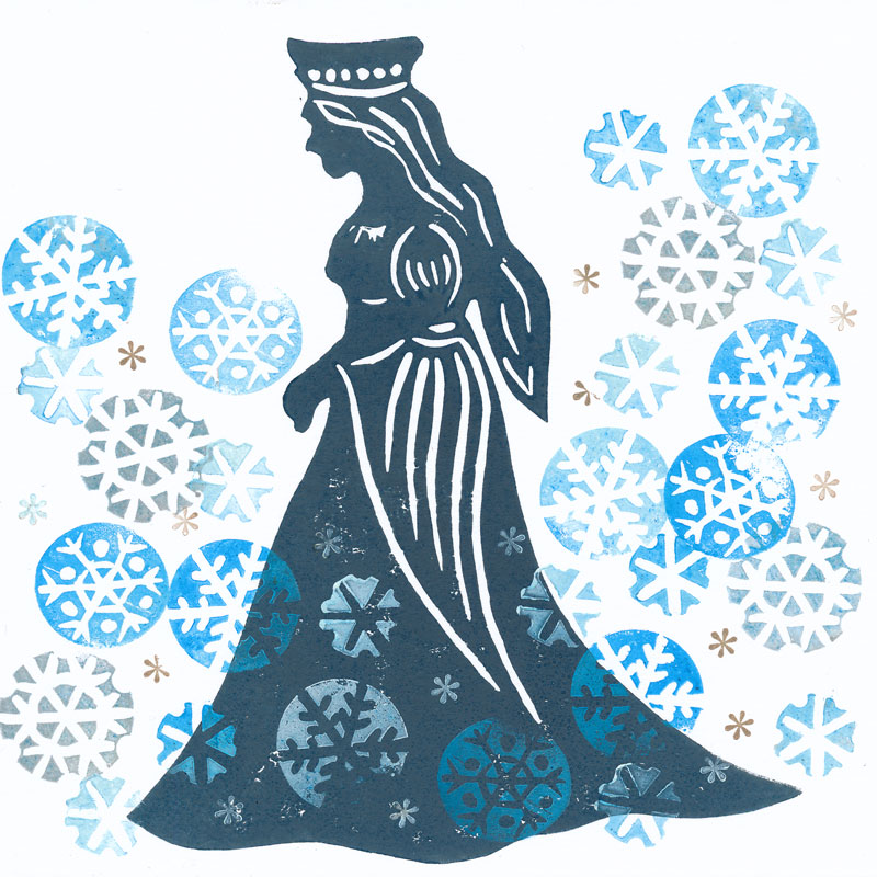 Silhouette of the Snow Queen